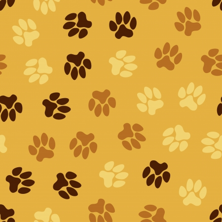 seamless pattern, animal footprints