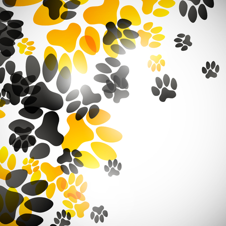 petshop: abstract background, animal footprints Illustration