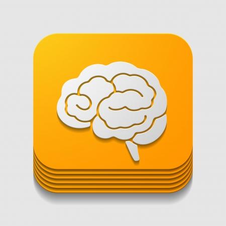 brainy: app icon brain Illustration