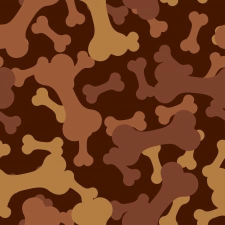 petshop: seamless pattern, bone for a dog