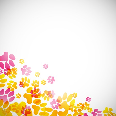 abstract background, animal footprints Vector