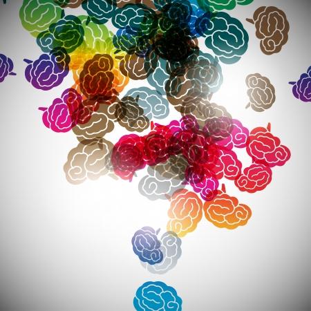 abstracte achtergrond, hersenen Stock Illustratie