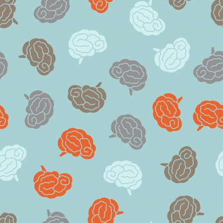 brainy: seamless pattern, brain