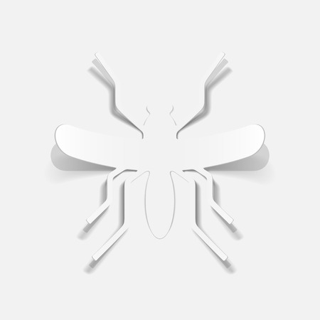 realistic design element: mosquito Stock Vector - 25407739