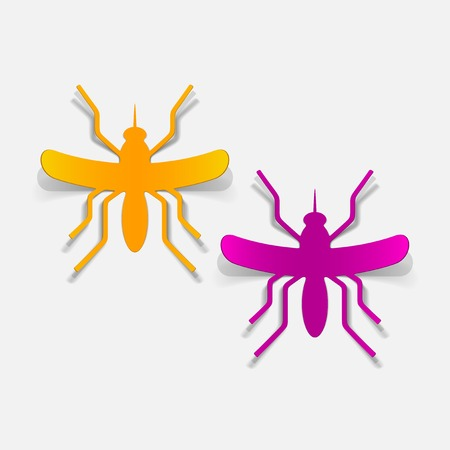 bloodsucking: realistic design element: mosquito Illustration