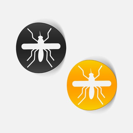 realistic design element: mosquito Stock Vector - 25407740