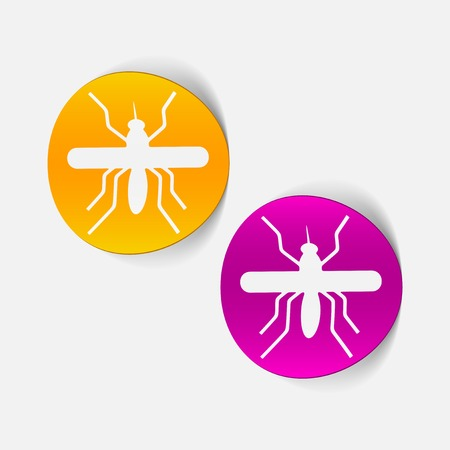 realistic design element: mosquito Stock Vector - 25414600