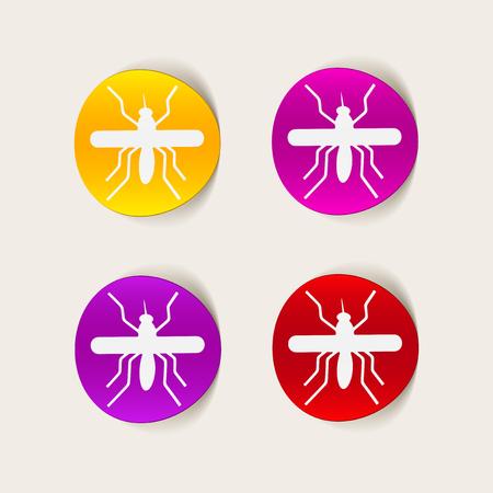 infectious disease: elemento de dise�o realista: mosquito