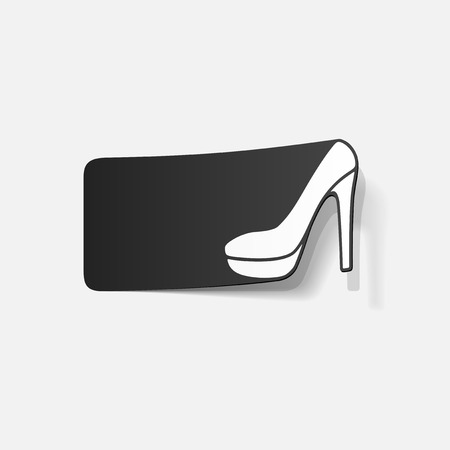 realistic design element: shoe Vector