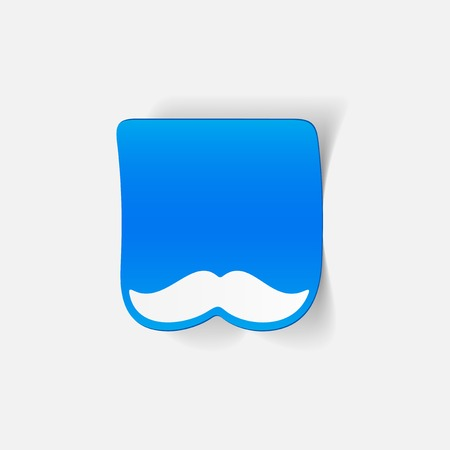 realistic design element: mustache Vector