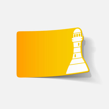 realistic design element: lighthouse. Vector Illustration Vector