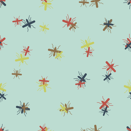 seamless background: mosquito. Vector Illustration Design Pattern Stock Vector - 25624514
