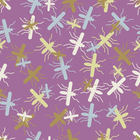 seamless background: mosquito. Vector Illustration Design Pattern Stock Vector - 25624515