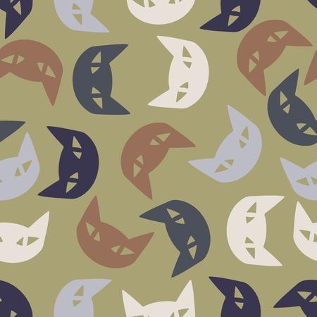 seamless background: cat. Vector Illustration Design Pattern Vector