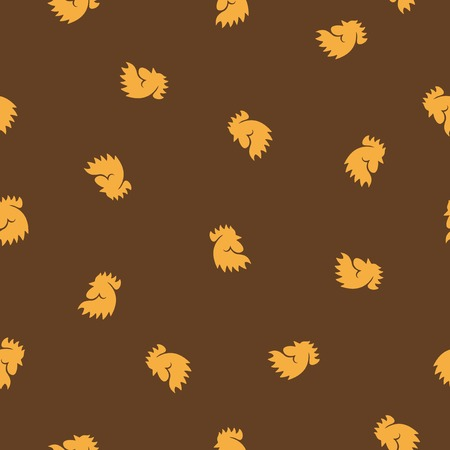 seamless background: cock. Vector Illustration Design Pattern Vector
