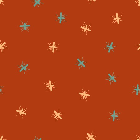 seamless background: mosquito. Vector Illustration Design Pattern Vector