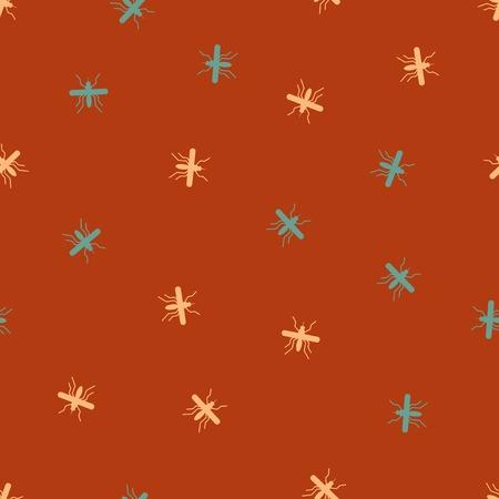 gnat: seamless background: mosquito. Vector Illustration Design Pattern Illustration
