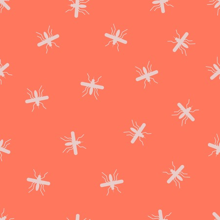 seamless background: mosquito. Vector Illustration Design Pattern Stock Vector - 25625201