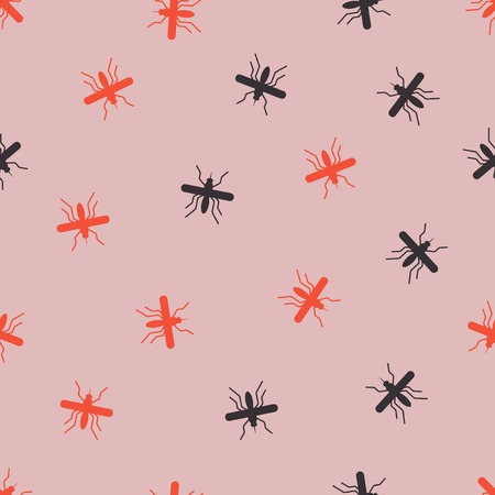 seamless background: mosquito. Vector Illustration Design Pattern Stock Vector - 25625203