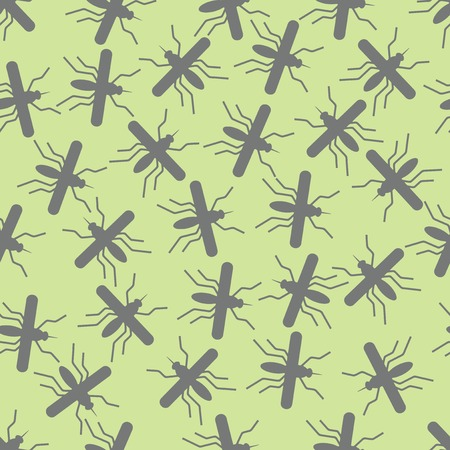 infectious disease: seamless background: mosquito. Vector Illustration Design Pattern Illustration