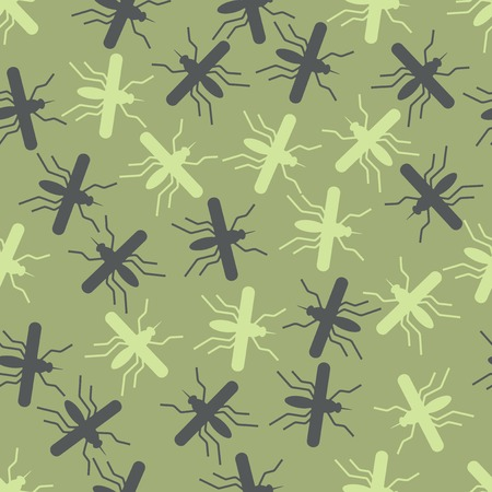 seamless background: mosquito. Vector Illustration Design Pattern Stock Vector - 25625206