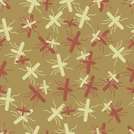 seamless background: mosquito. Vector Illustration Design Pattern Stock Vector - 25625211