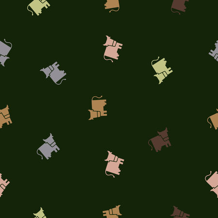 seamless background: cow. Vector Illustration Design Pattern Vector