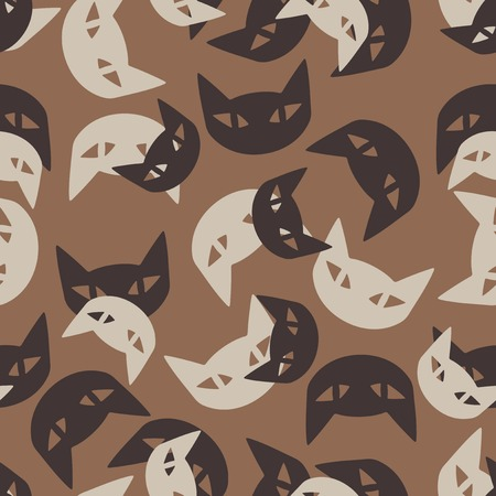 seamless background: cat. Vector Illustration Design Pattern Vector