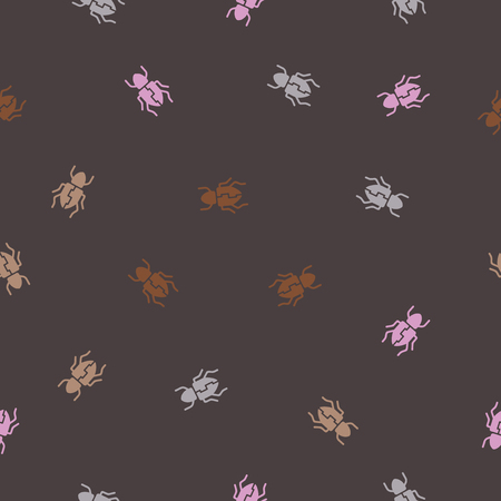 seamless background: beetle. Vector Illustration Design Pattern Stock Vector - 25625635
