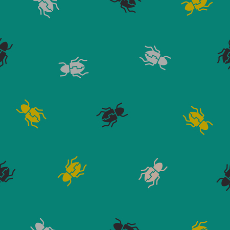 seamless background: beetle. Vector Illustration Design Pattern Stock Vector - 25625636