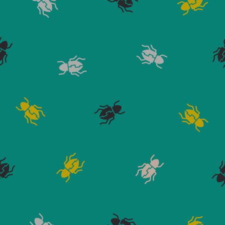 seamless background: beetle. Vector Illustration Design Pattern Stock Vector - 25625636