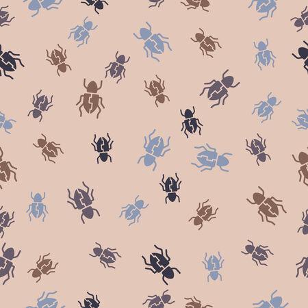 seamless background: beetle. Vector Illustration Design Pattern Stock Vector - 25625632