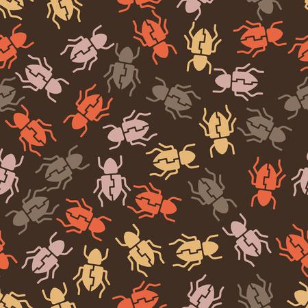 seamless background: beetle. Vector Illustration Design Pattern Stock Vector - 25625641