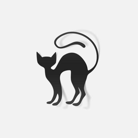 realistic design element: cat Vector