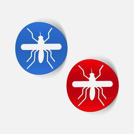 infectious disease: realistic design element: mosquito Illustration