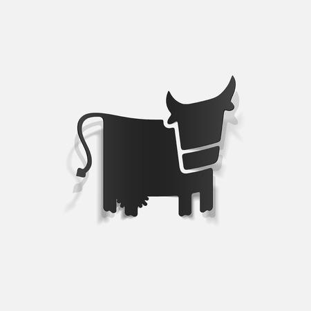 realistic design element: cow Vector