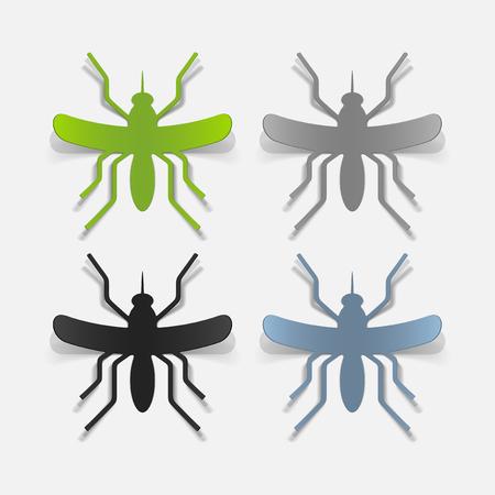 realistic design element: mosquito Stock Vector - 25627584