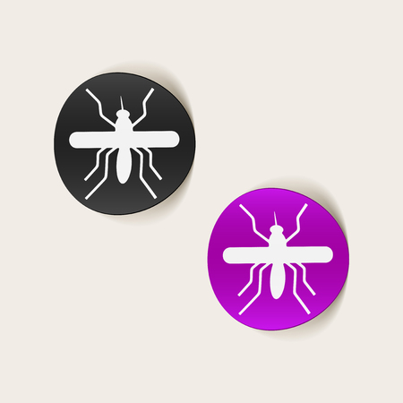 realistic design element: mosquito Vector