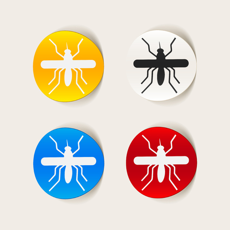 realistic design element: mosquito Stock Vector - 25627596