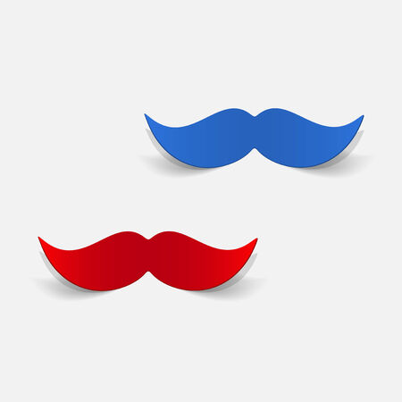 realistic design element: mustache Illustration