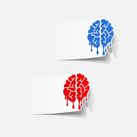 realistic design element: brain drop. Vector Illustration Vector