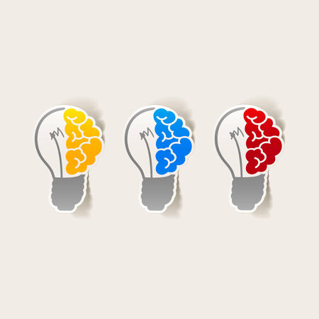 realistic design element: brain lamp. Vector Illustration Vector