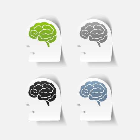 realistic design element: head face brain. Vector Illustration Vector