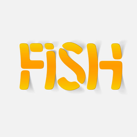 fish type: realistic design element: fish. Modern Graphic Illustration Illustration