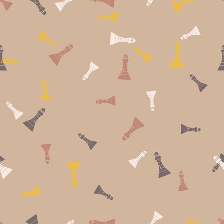 seamless background: lighthouse Vector