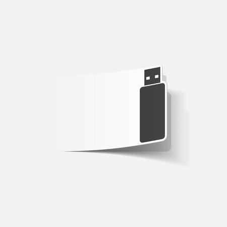 realistic design element: usb