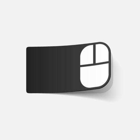 realistic design element: computer Mouse Vector