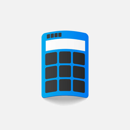 realistic design element: calculator Vector