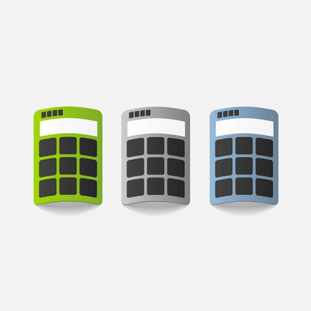 realistic design element: calculator Vector