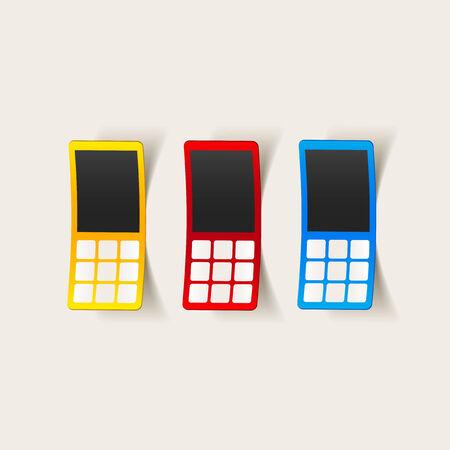 communicator: realistic design element: mobile phone